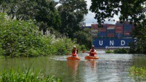 Kayak on the Panama Canal